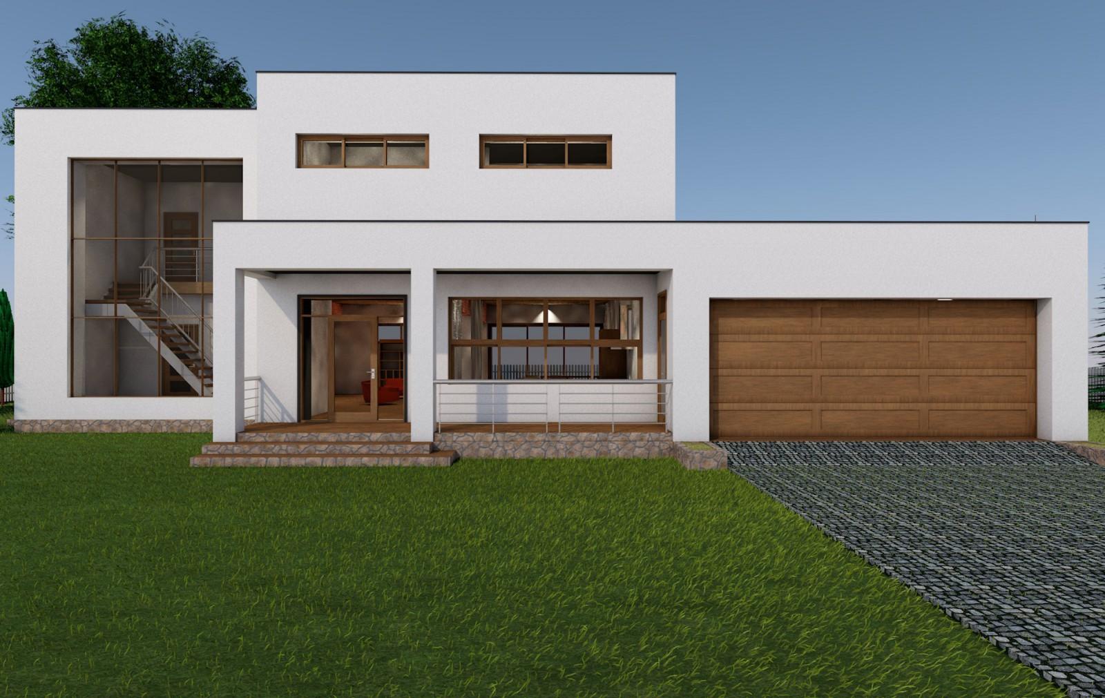 Недорогой дачный дом 6х8 с террасой, построенный под ключ